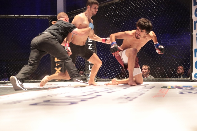 CageZilla fighters and referee