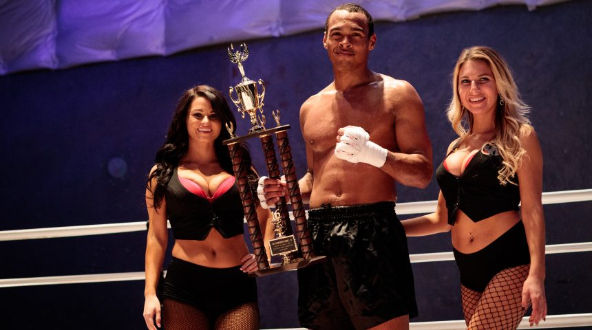 tcb champ with ring girls from wylde style productions